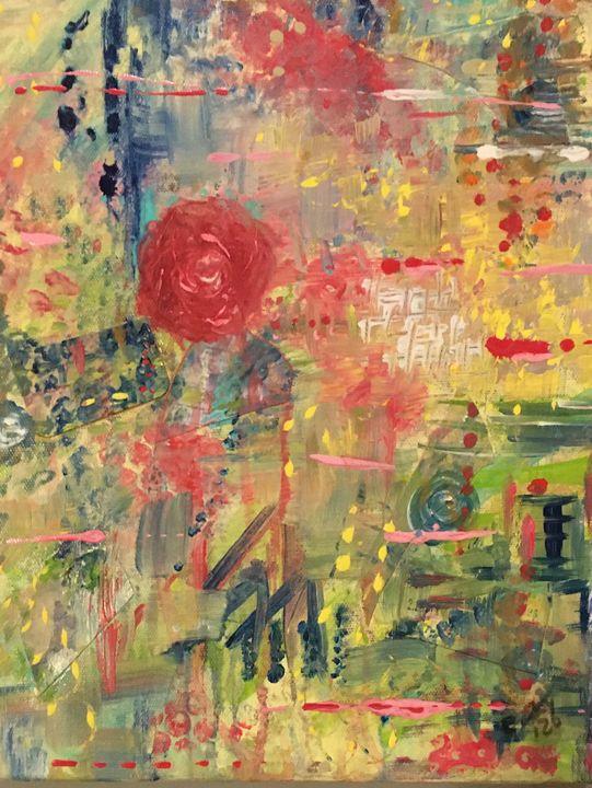 Denim Roses - Christie Joy Art