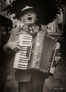A Street Musician in Lviv Ukraine