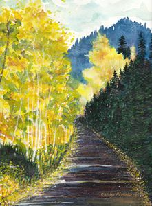 Autumn Mountain Road
