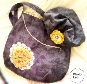 Shabby Bag with Matching Beret