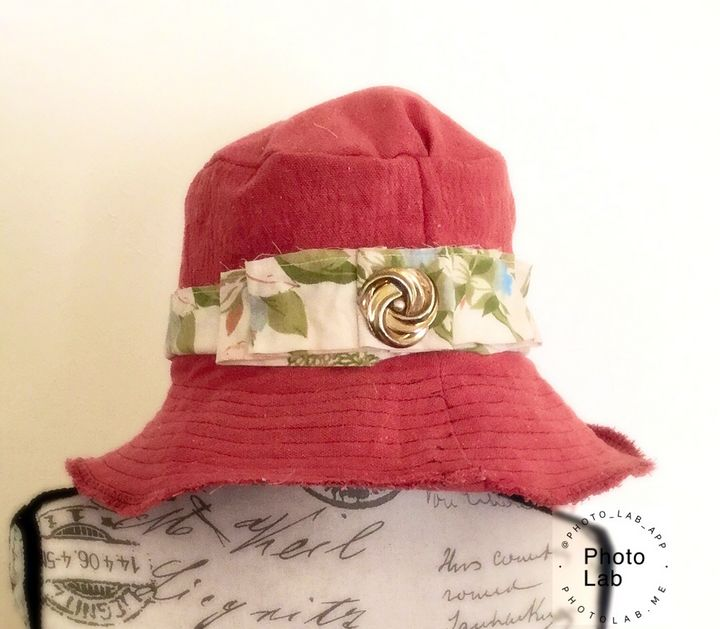 """Shabby """"Jean"""" Wide Brim Hat - Canvas & Lace"""