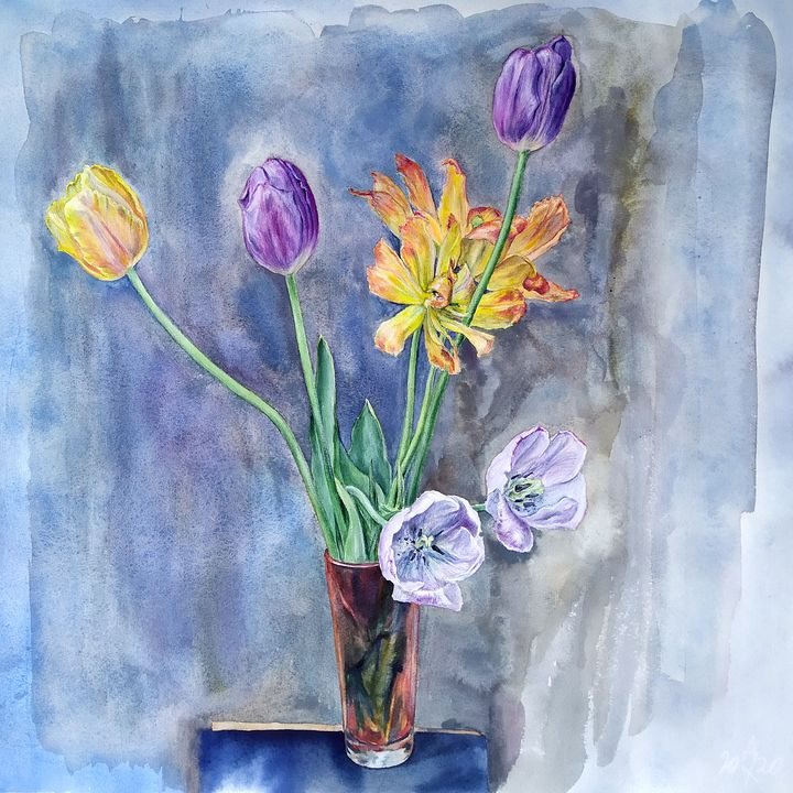 Bouquet of tulips. - shura_hlebnikova_art