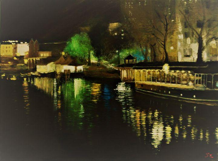 Glassboat Dawn - Bristol Impressionist JZ