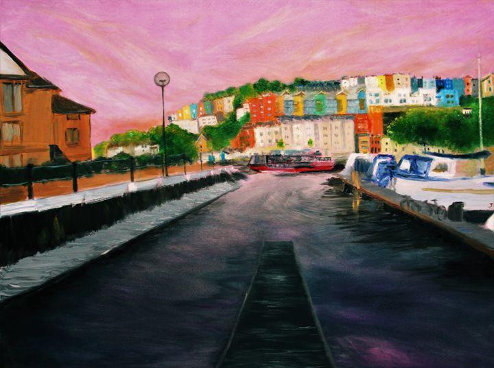 Harbourside Sunset - Bristol Impressionist JZ