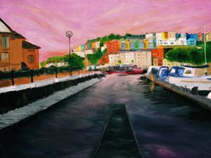 Harbourside Sunset - Bristol Impressionist JZ