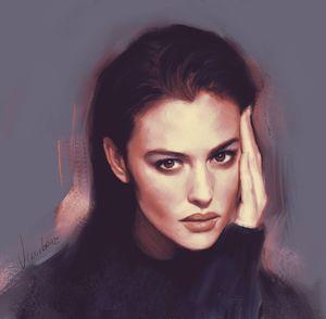 Portrait of Monica Bellucci