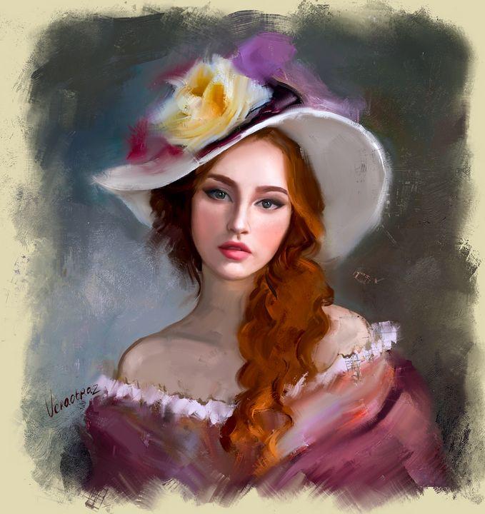lady in a hat - Vera Obraztsova
