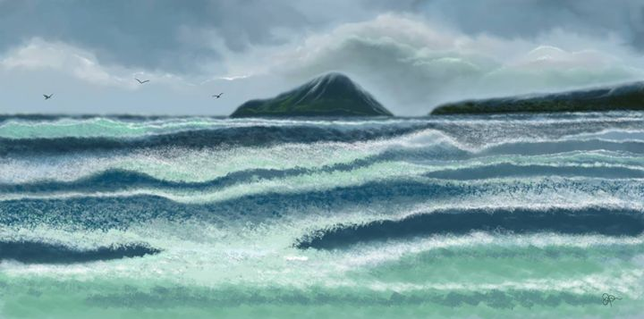 The Rushing Waves - J.B. ASPERIN ART