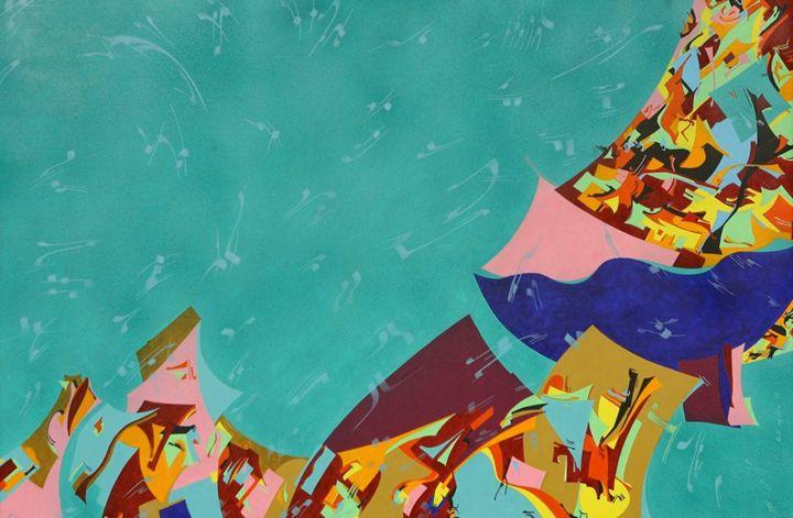 Fallin' - Holotropic Art by Edi APOSTU