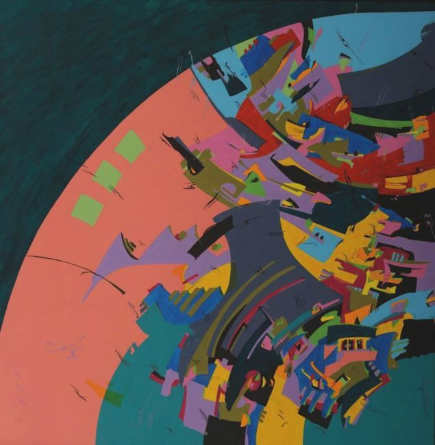 Inside of Green Centrifuge - Holotropic Art by Edi APOSTU