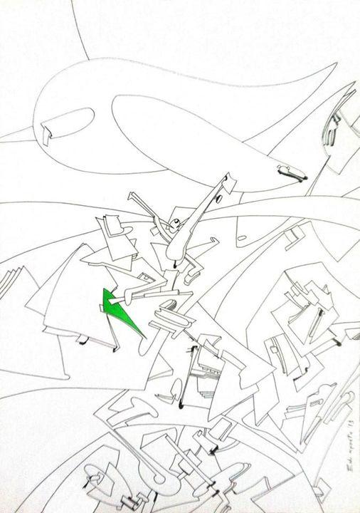 Mechanized flight - Holotropic Art by Edi APOSTU