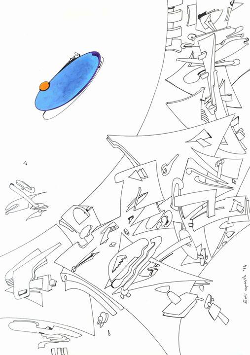 UFO - Holotropic Art by Edi APOSTU