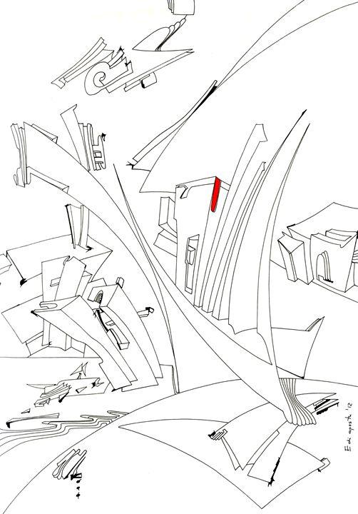 The new city - Holotropic Art by Edi APOSTU