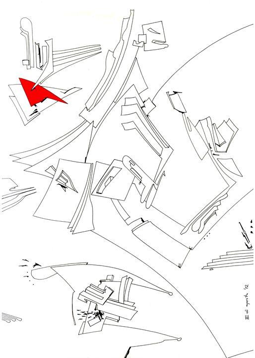 The murky area - Holotropic Art by Edi APOSTU