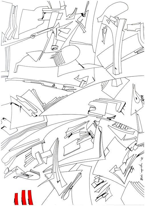 The Shark - Holotropic Art by Edi APOSTU