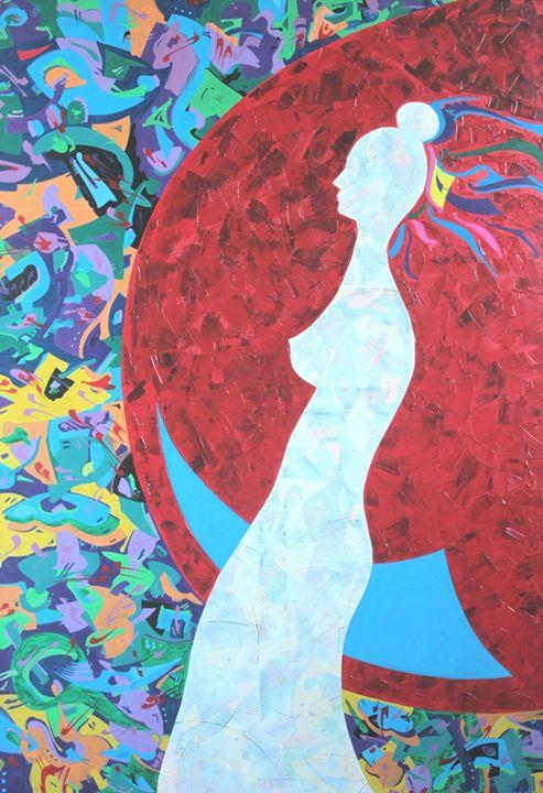 Costana Swaying on the Moon - Holotropic Art by Edi APOSTU