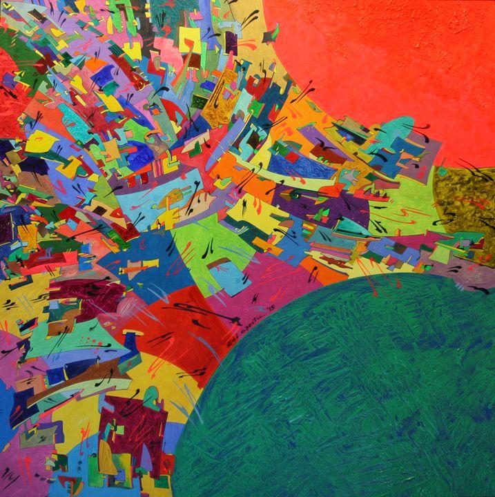 Burning Sun - Holotropic Art by Edi APOSTU