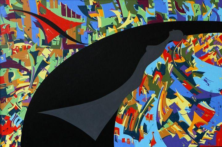 Costana in my holotropic dream - Holotropic Art by Edi APOSTU