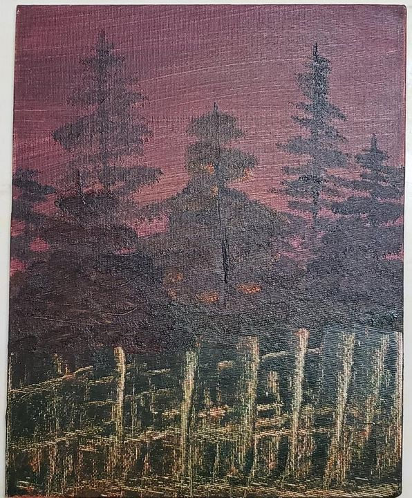 The fence in the forest - FavoredArt