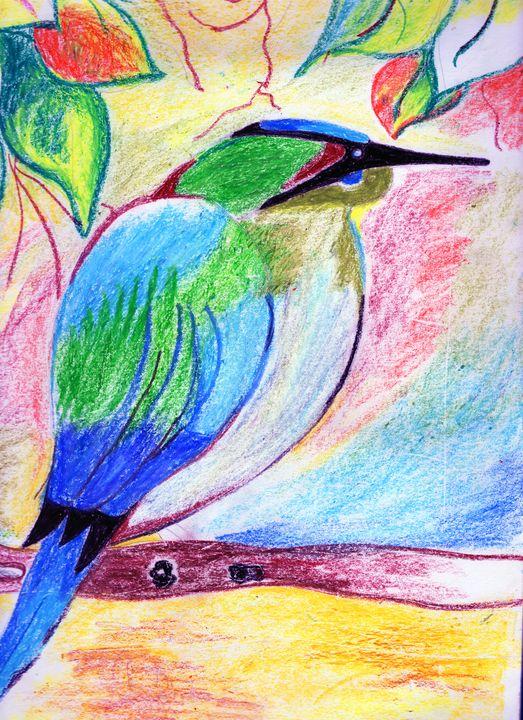 Bird on a branch - Barnas creation