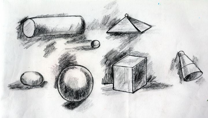 Realistic Geometrical shapes - Barnas creation