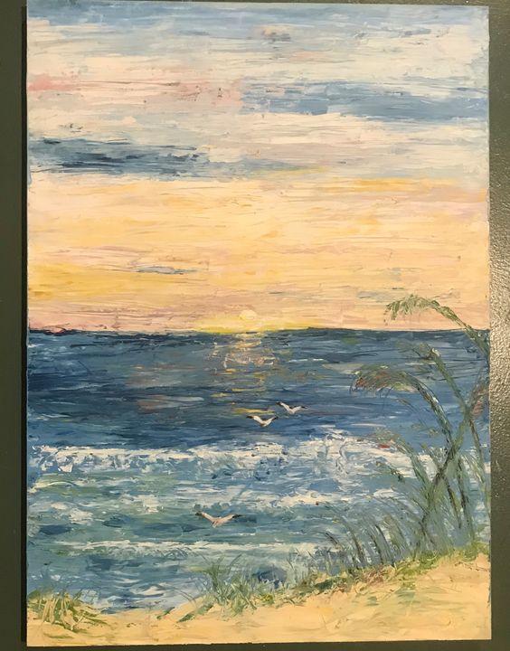 Texture of a Beach Sunrise - Art by Meredith Dickson