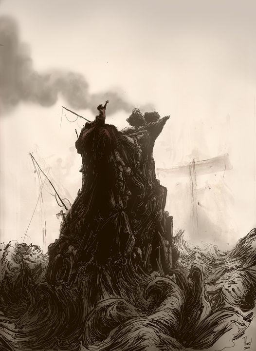 Lone Fisherman - Phil Baril's Art