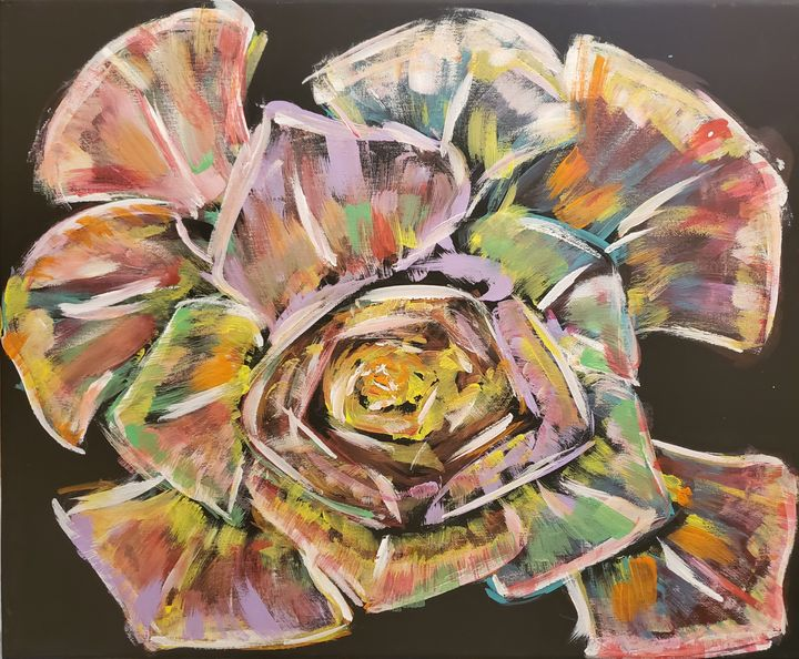 Abstract Rose - Macasso