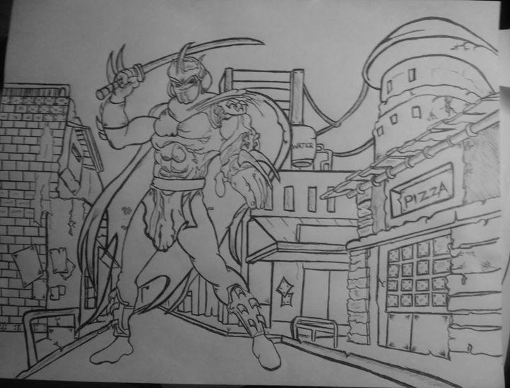 Tnmt 90s style shredder drawing - Stoner Creations