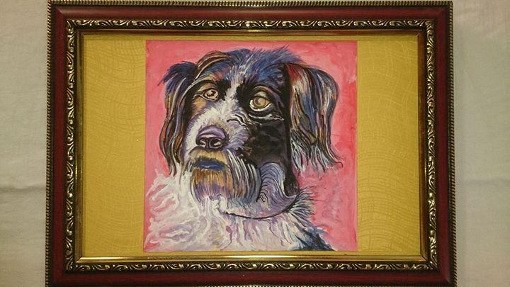 beatuty dog selfie - Dhivya Art Studio