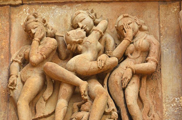 Erotic sculpture Khajuraho - Bhaswaran