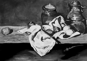 Still life inspired by Cezanne.
