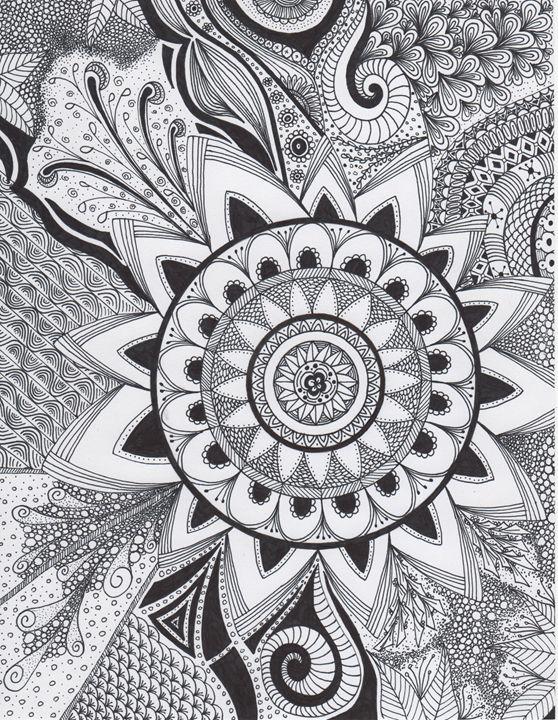 Zentangle Mandala Flower - Alyssa LaCivita