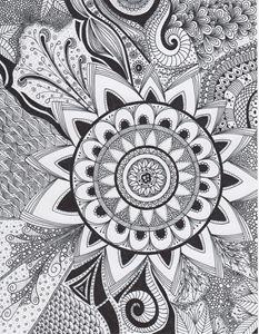 Zentangle Mandala Flower