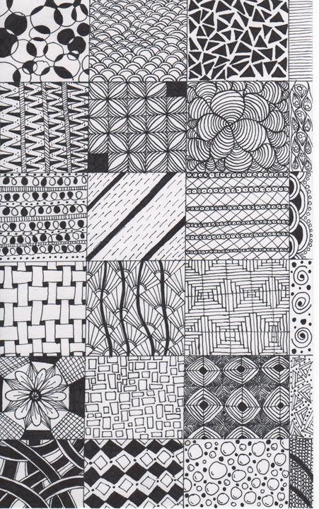 Zentangle tiles - Alyssa LaCivita