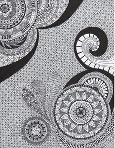 Zentangle Art - Mandala
