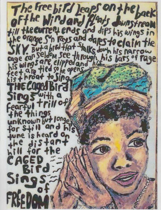 Maya Angelou - Art of Becca Nicole