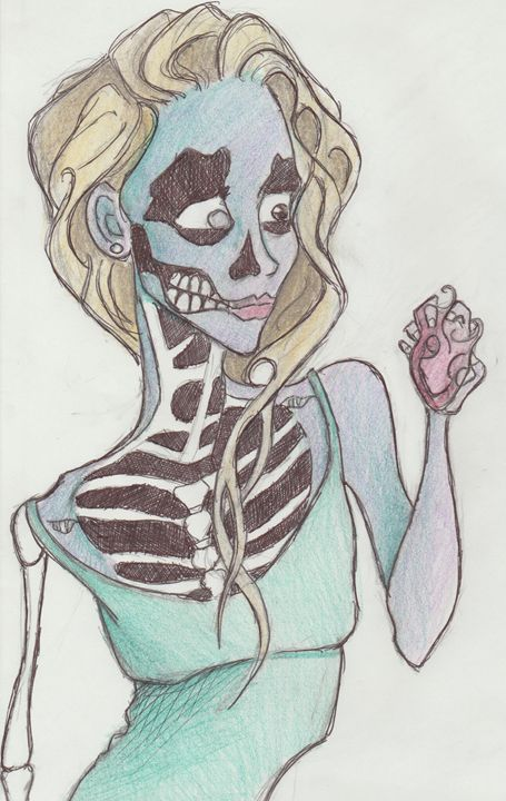 Skeleton Girl - Art of Becca Nicole