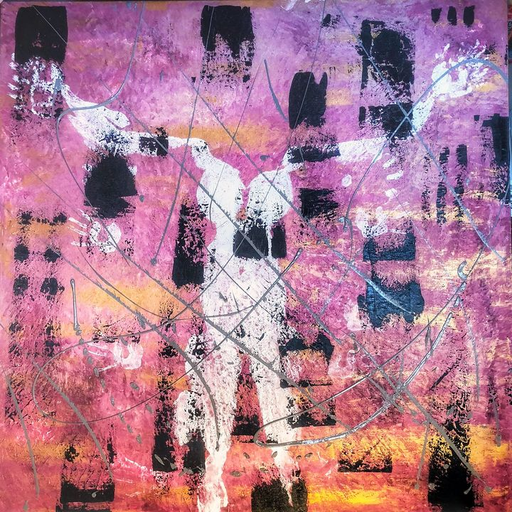 Bribe show - Pink abstract art