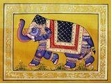Fabric Elephant 2 Rajasthani Art