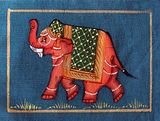 Fabric Elephant 3 Rajasthani Art