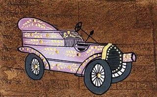 Postcard Vintage Car - Artwaley Australia