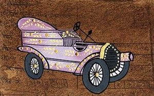 Postcard Vintage Car