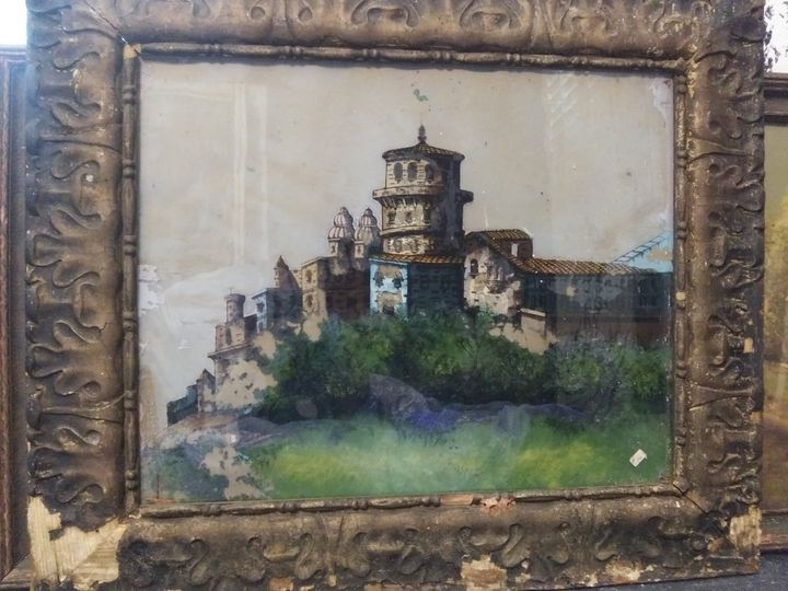 Reverse Heidelburg Castle on glass - Brandon cooper
