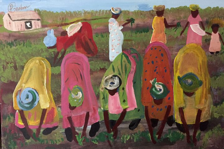 Working The Fields - Art By Pearl Graham