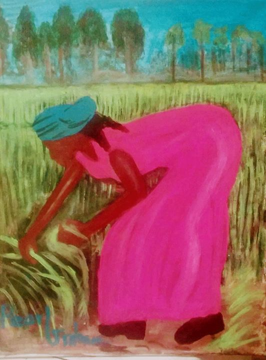 Mama Works The Fields - Art By Pearl Graham
