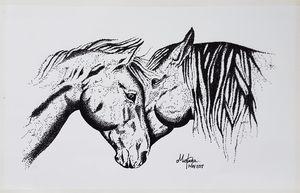 Horses in 'love'