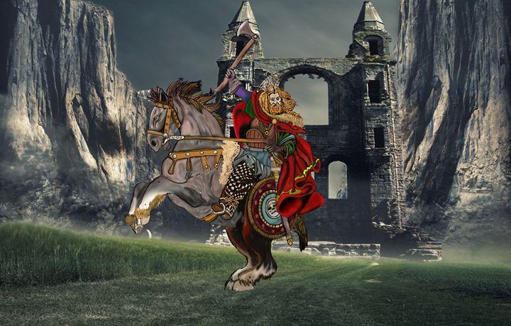 Viking on horse - stephen pryor