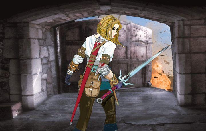 elf princess  defends the gateway - stephen pryor