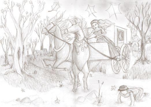 Fleeing sketch - Bethany Gray Cumbria